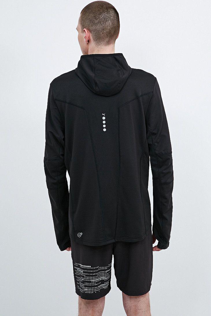 puma half zip hoodie in black urban outfitters active pinterest. Black Bedroom Furniture Sets. Home Design Ideas