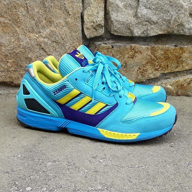 Used Adidas ZX 8000 OG Aqua 2013 Used Sneakers very good