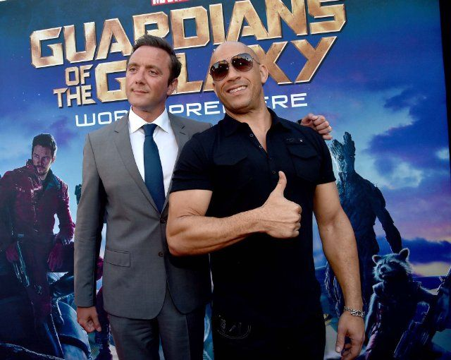 'Guardians of the Galaxy' Hollywood Premiere - Vin Diesel and Peter Serafinowicz