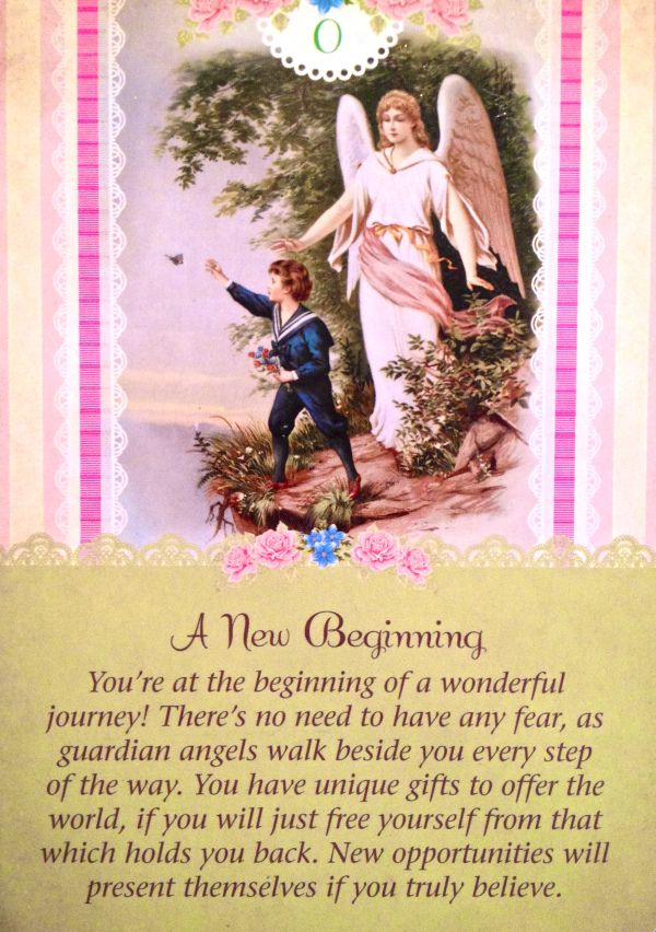 A New Beginning, from the Guardian Angel Oracle Card deck, by Doreen Virtue Ph.D and Radleigh Valentine