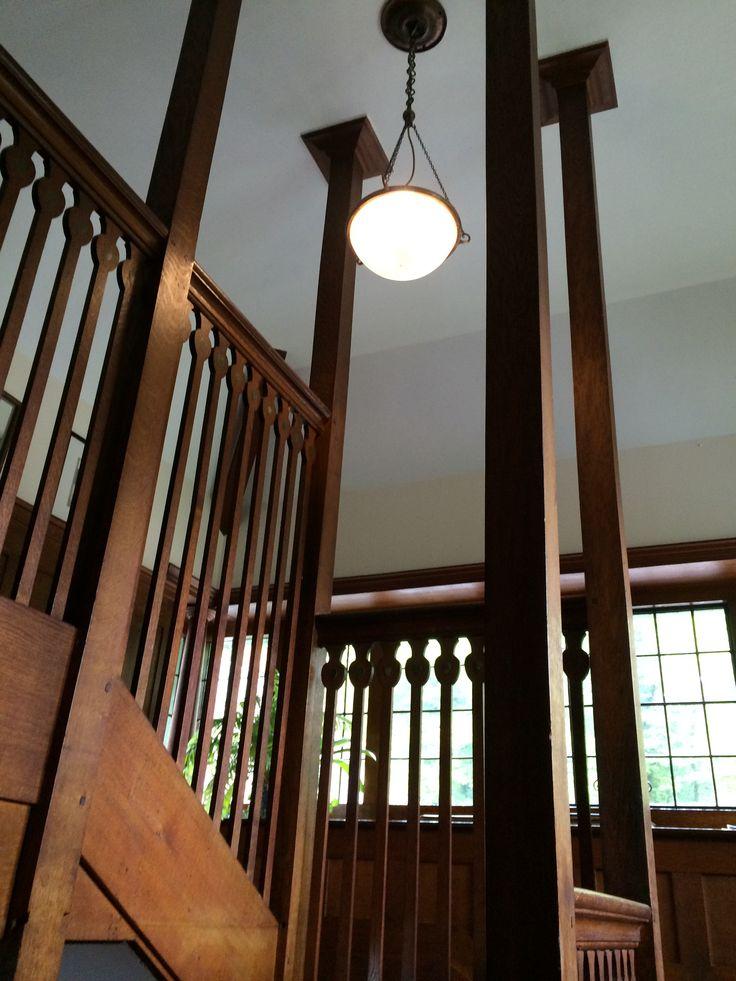 Staircase at Broad Leys.