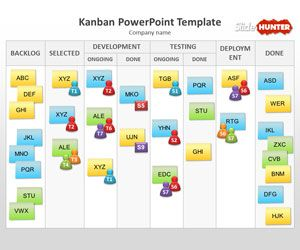 Free Kanban PowerPoint Template is a free PPT template with Kanban diagram that you can download to make presentations using a Kanban slide