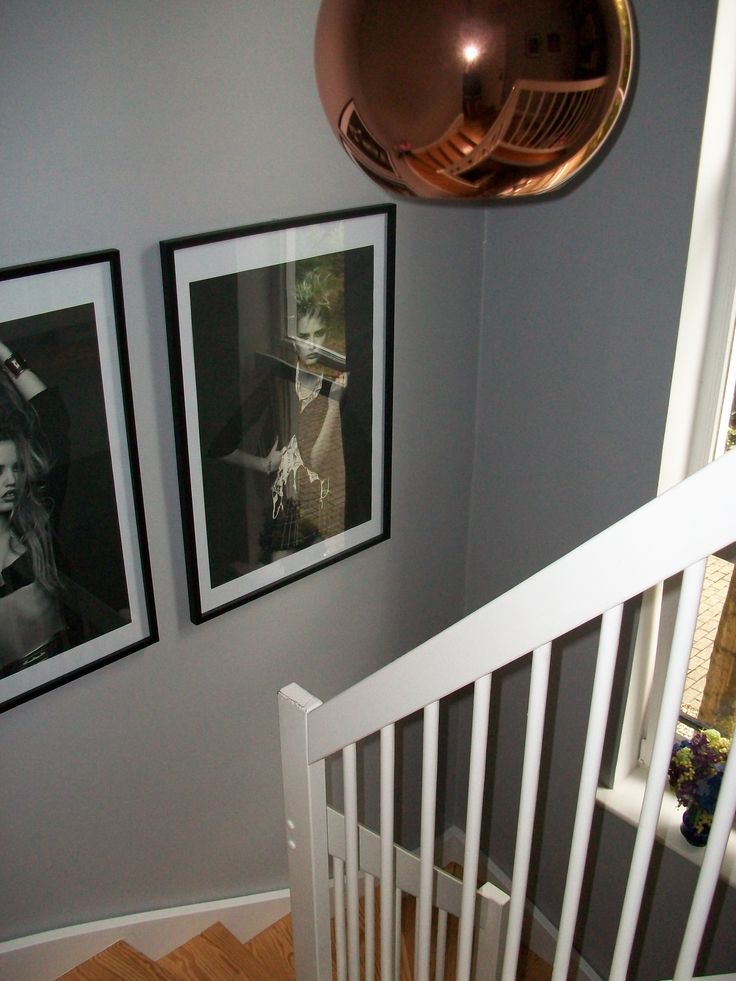 tom dixon copper light chic shadow dulux gray paint chanel posters hallway