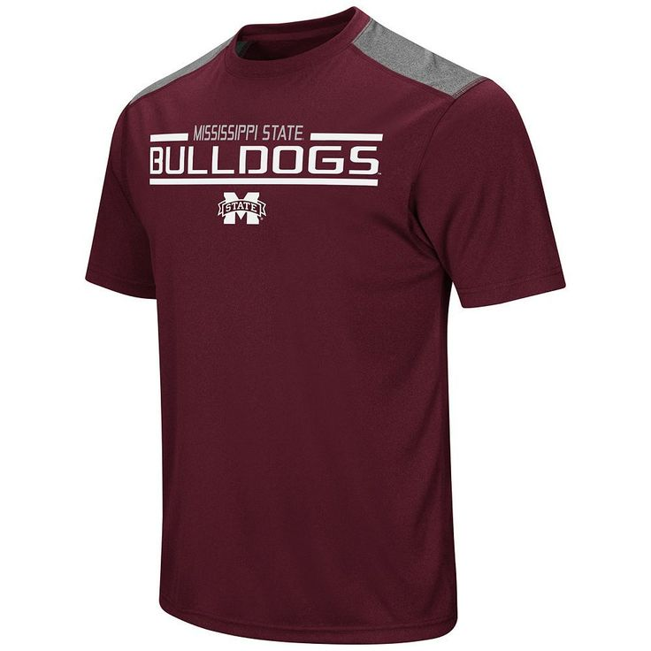 Men's Campus Heritage Mississippi State Bulldogs Rival Heathered Tee, Med Red