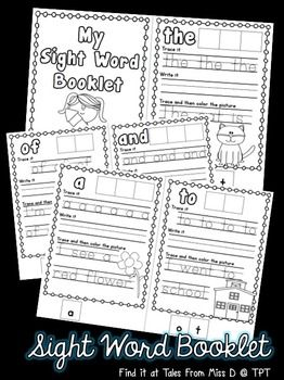 This booklet contains 30 pages for sight word practice. This equates to only 10c a page! Words covered; the, of, and, a, to, in, is, you, that, it, he, was, for, on, are, as, with, his, they, I, at, be, this, have, from, or, one, had, by, words.