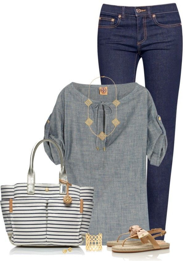 Like the whole outfit. Jeans and top! Like how the top is a little loose and doesn