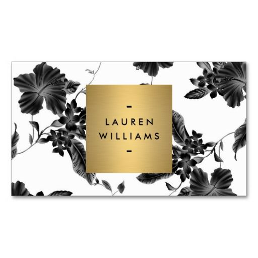 If you're looking for a stylish and classic, yet modern design to update your business cards - this is for you. The black and white floral motif in the background is elegantly personalized with your name or business name set in a gold square. Just click the card image to personalize the front and back with your own info to see how it looks instantly. Printed on high quality card stock and easy to order. Fast shipping.