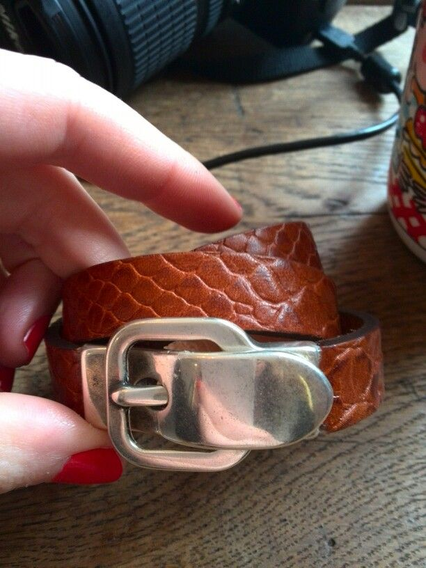 Handmade snakeskin leather