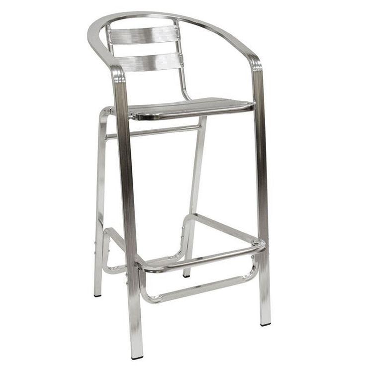 American Tables u0026 Seating 55BS Aluminum Bar Stool - Slat Back and Seat  sc 1 st  Pinterest & Best 25+ Aluminum bar stools ideas on Pinterest | Bar stool sports ... islam-shia.org