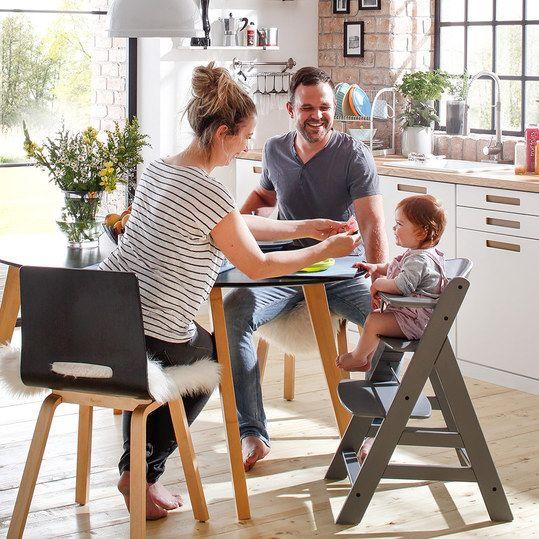 hauck alpha plus grau newborn set hochstuhl neugeboreneneinsatz wippe baby. Black Bedroom Furniture Sets. Home Design Ideas
