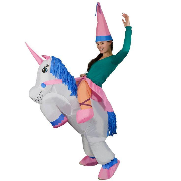 Inflables adultos Unicorn fantasía animal mítico Blow Up Party Fancy Dress Halloween Costume: Amazon.es: Juguetes y juegos