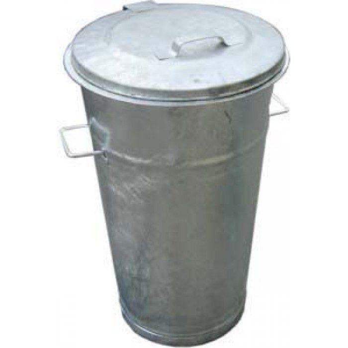 Contenitore rifiuti acciaio 80 lt