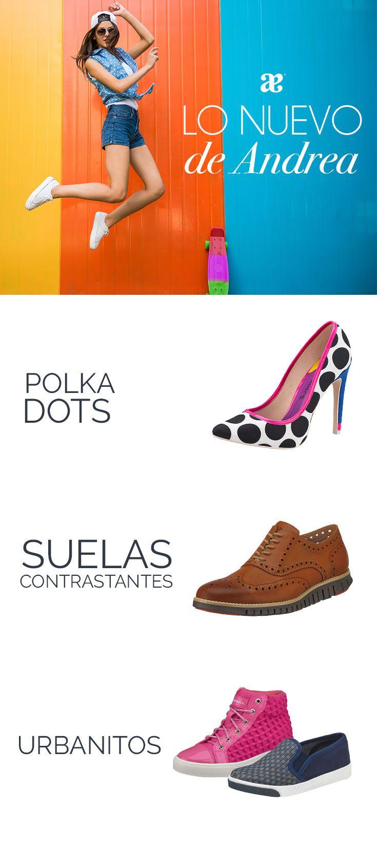 LO NUEVO DE ANDREA. Descubre cuáles son las tendencias de #calzado que no puedes perderte en la temporada #Primavera 2016.