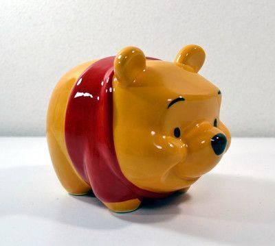 Japan Kato Kogei Desney Winnie the Pooh Ceramic Piggy Bank