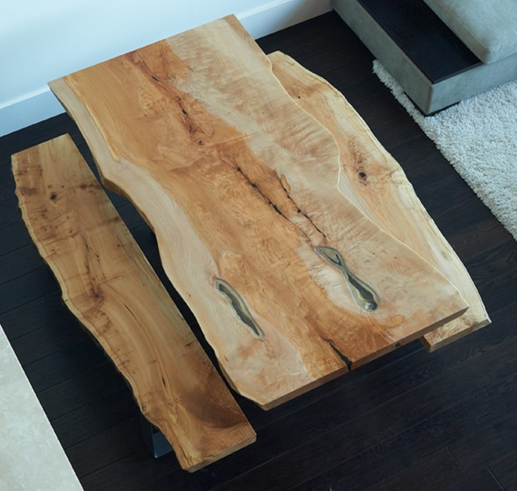 Vintage Rustic Free Edge Coffee Table Natural Wood Slab: 48 Best Images About Log Furniture On Pinterest
