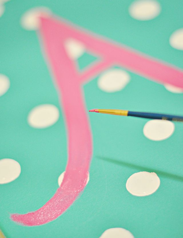 DIY Gifting: Custom Painted Initial Canvas for Baby