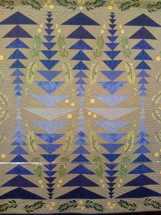 """Joseph's Flyway"" by Jean Williams, 2010 Arizona Quilter's Guild Show. Original design; this project took 5 years. Paper pieced, reverse appliqued, hand quilted. Photo by Quilt Inspiration:"