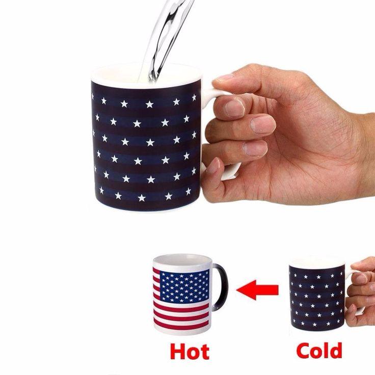 American Flag Color Changing Mug