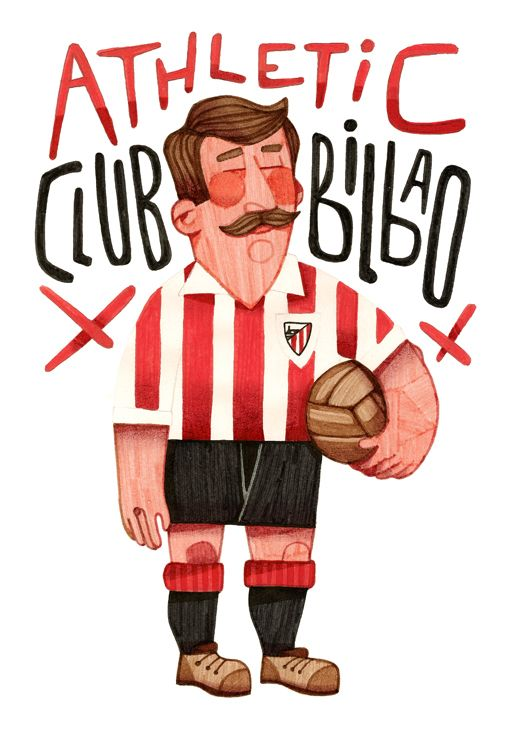 Quiero este poster. Athletic Club by Jorge Lawerta, via Behance