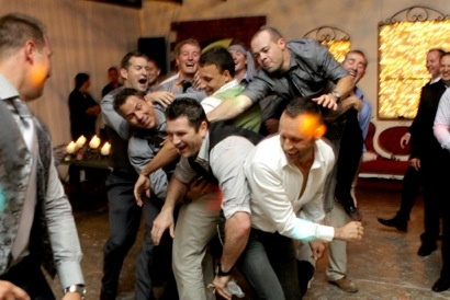 Guys going mad over the garter.. :)
