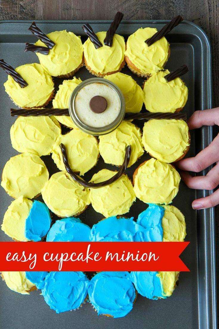 MINIONS Backyard Bash & Easy Cupcake Minion Tutorial from MomAdvice.com #MinionsParty #ad