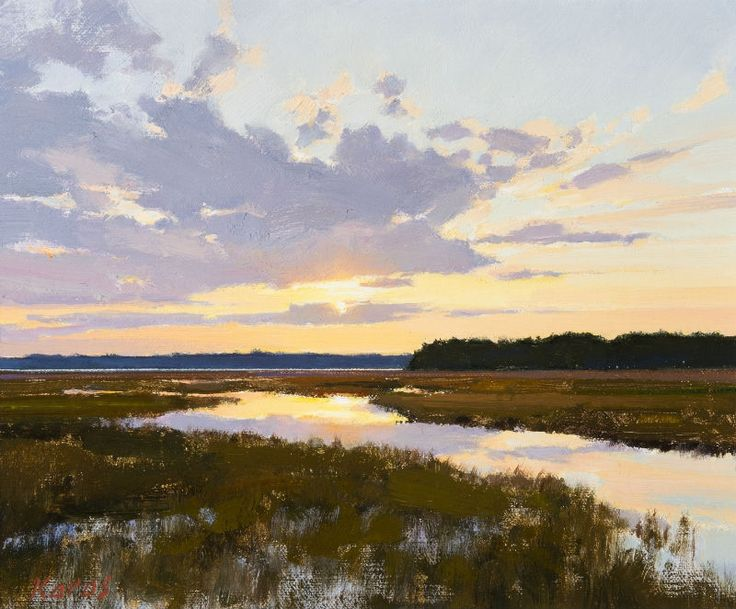 "A picturesque setting fills the canvas of Michael B. Karas' ""Lowcountry Magic"" - Morris & Whiteside Galleries #art #fineart"