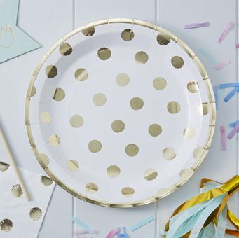 A fun pack of foiled paper plates perfect for any party or celebration!