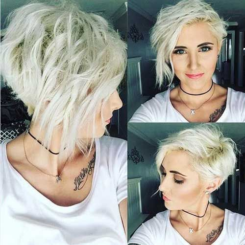 I LOVE this super short asymmetrical bob but I don't know if I'll ever be ballsy enough to pull it off.