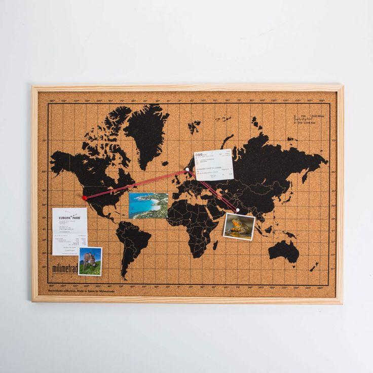 La Mappa del Mondo in Sughero è l'ideale sia per pianificare il tuo prossimo tour mondiale sia per decorare casa con i tuoi ricordi…