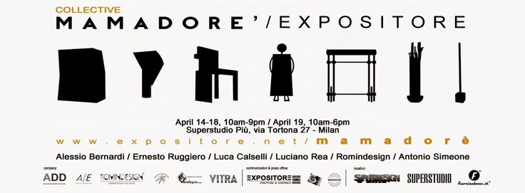 ROMINDESIGN creations from my mind: DESIGN WEEK MILANO 2015 : MAMADORE' - EXPOSITORE