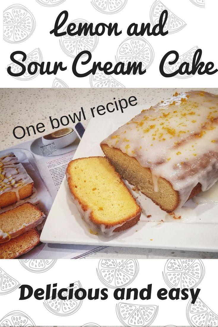Lemon Sour Cream Butter Cake Recipe Sour Cream Cake Lemon Sour Cream Cake Dessert Recipes