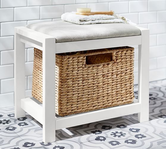 Ultimate Storage Stool | Pottery Barn : bathroom storage stool - islam-shia.org