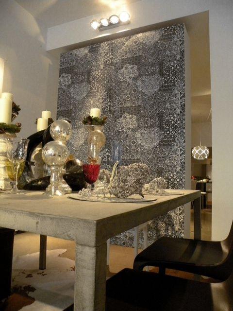 #ILtavolo #table  #concrete finishing...pure elegance #Christmas #SetUp #Mosna #store #Trento #youropinionworld