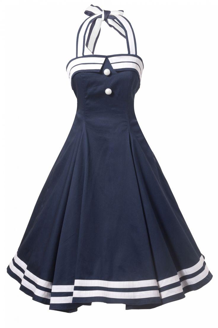 Collectif Clothing - Collectif Clothing - COLLECTIF 50s Sindy Doll Sailor navy swing dress