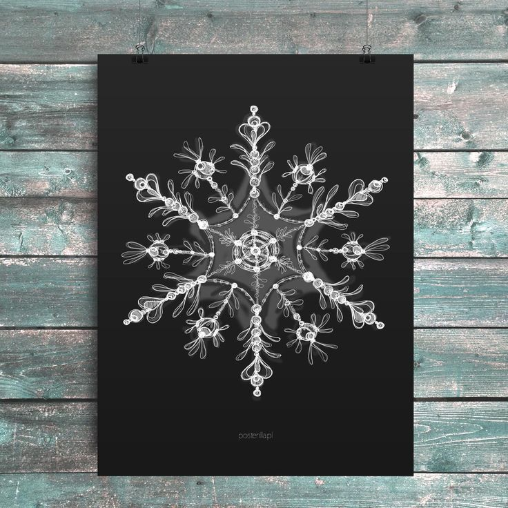 Poster with a snow flake