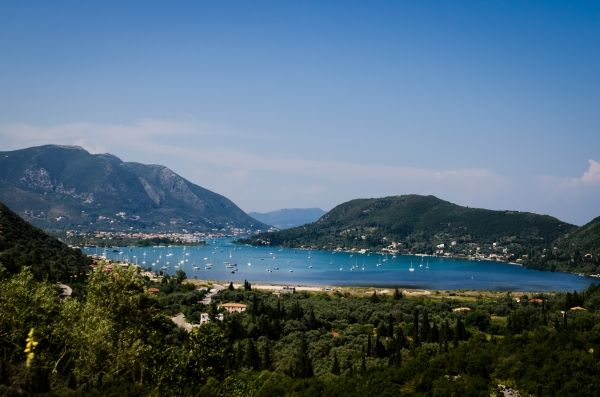 Beautiful landscape near Nydri, Lefkada island