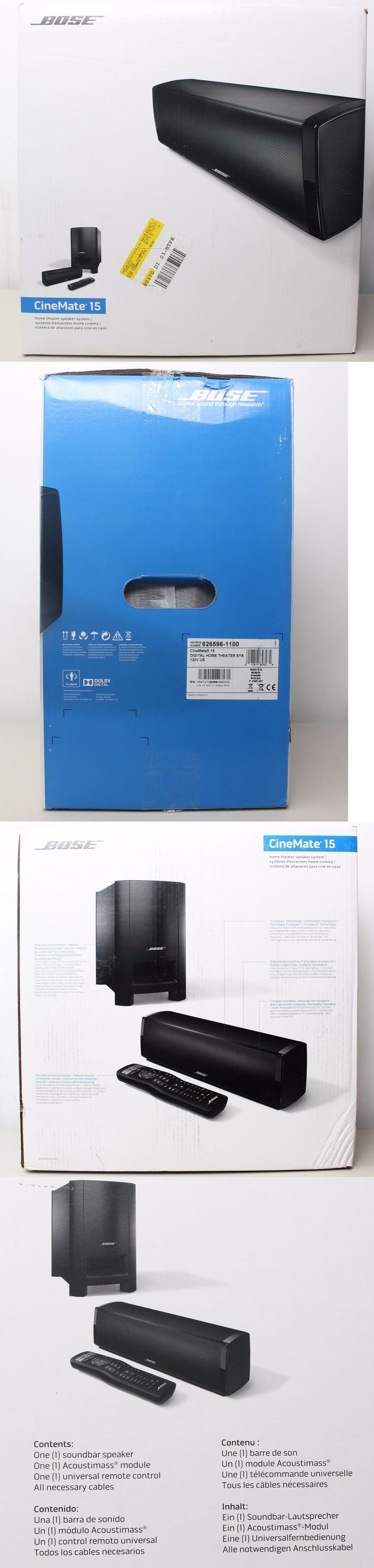 Bose soundtouch 130 home theater system black 738484 1100 b amp h - Home Theater Systems Bose Cinemate 15 Home Theater Speaker System W Acoustimass Subwoofer Remote