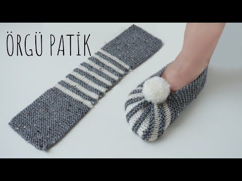 4c1c12dfe904f Super Easy Slippers to Crochet or to Knit | Crocheting | Knitted ...