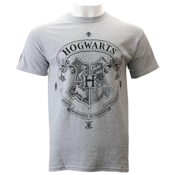 Hogwarts Crest Grey T-Shirt | The Harry Potter Shop at Platform 9 3/4