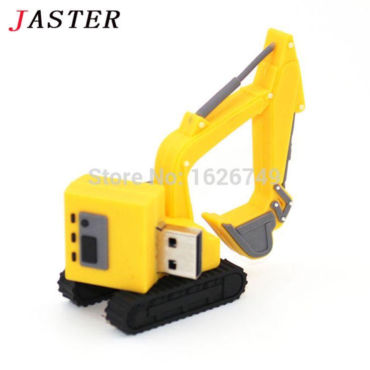 JASTER character excavator usb flash drive grab pendrive 8gb 16gb 32gb Usb creativo pendrives mini memory stick full capacity //Price: $11.00      #onlineshopping