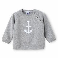 Petit Bateau Baby Boy Cotton Knit Anchor Sweater