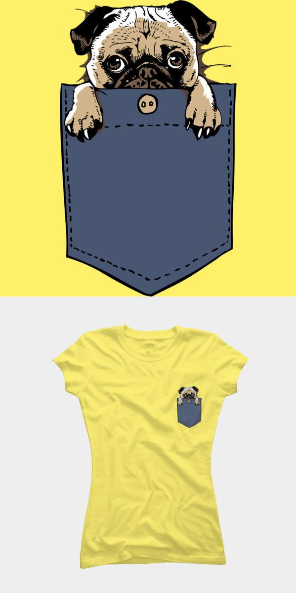 It's a tiny pug! Love it! Want it! Take this adorable pug with you wherever you go. This is a super cute pug in your pocket T shirt. Visit http://shirtminion.com/2014/10/cute-pug-in-my-pocket
