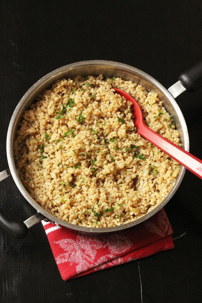 Serve up an easy side dish tonight with this Simple Brown Rice Pilaf. Based on whole grain and packed with flavor, it's a great supporting actor.
