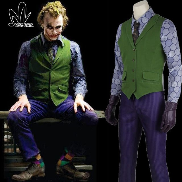 Disfraces de halloween para hombres Chaqueta joker Batman The Dark Knight Joker cosplay Carnaval Cosplay fancy joker Traje de Batman