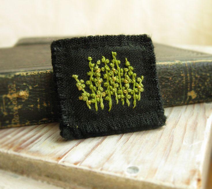 Budding Spring Hand Embroidered Brooch. $25,00, via Etsy.