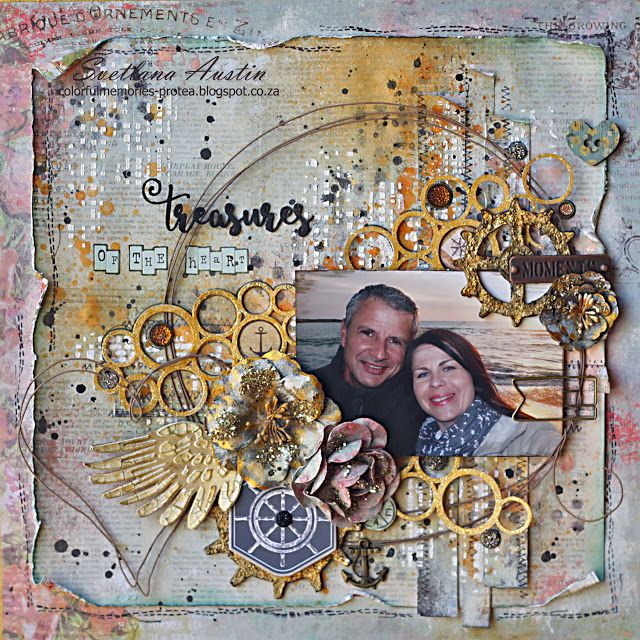 Colorful Memories: Treasures of the Heart, Mixed media Prima Marketing layout
