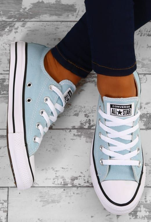 878245cbbfaa37 Chuck Taylor Converse All Star Ox Turquoise Trainers - UK 3 in 2019 ...