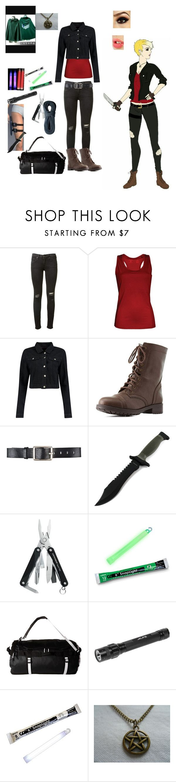 """""""Untitled #50"""" by jack-loves-cake on Polyvore featuring rag & bone, Antigua, Boohoo, Charlotte Russe, Belstaff, Leatherman, SnapLight, The North Face, ALPS Mountaineering and Charlotte Tilbury"""