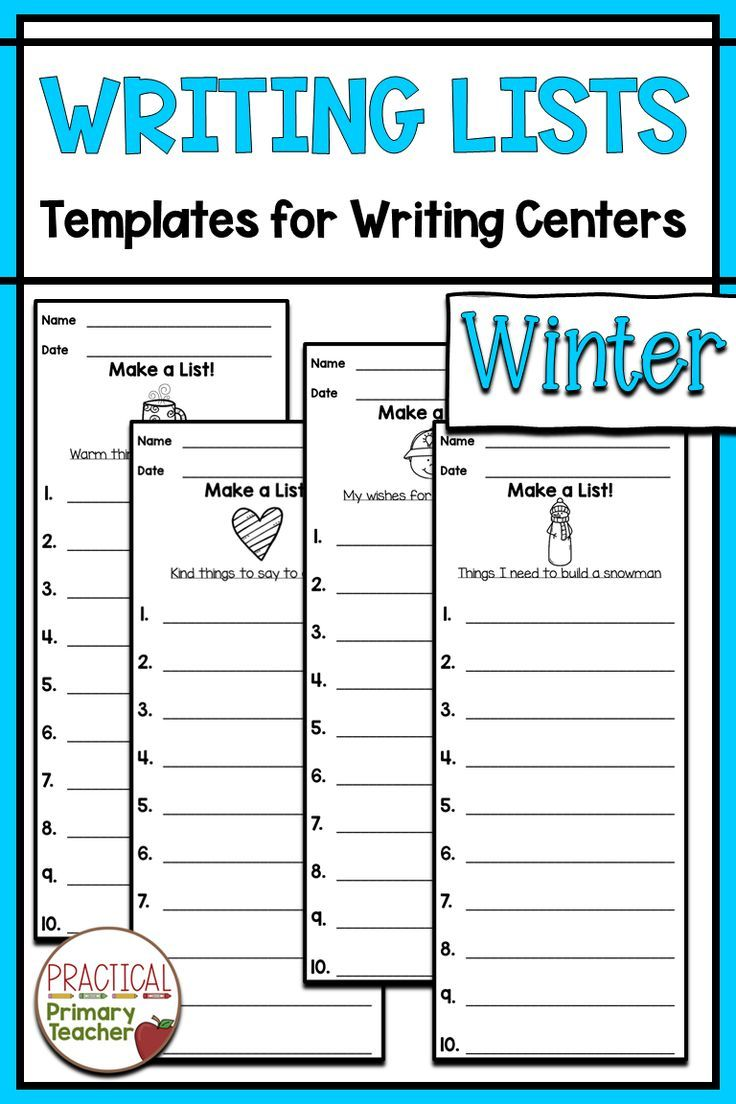 Ten Winter Writing Lists For Emergent Writers Great For Writing And Literacy Centers Fun And Engaging Topics Wi Winter Writing Writing Lists Teaching Writing [ 1104 x 736 Pixel ]