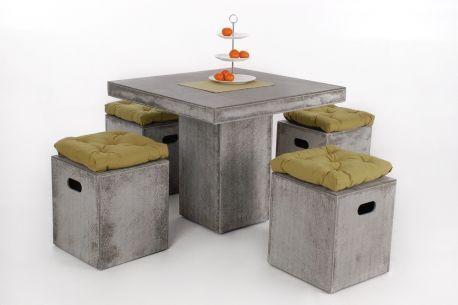 Compact 90 - Sitzgruppe aus Faserbeton